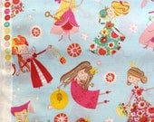 Alexander Henry fabric  'fair maidens' blue FQ or more