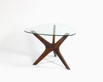 "Adrian Pearsall for Craft Associates ""Jacks"" Walnut Side Table"