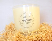 Very Vanilla Scented Vegan Soy Wax Candle