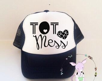Kids Trucker Hat Tot Mess Trucker Hat Girls fashion trucker hat toddler trucker hat doll heart bow hat kids trucker hat fashion girls hat