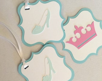 Cindrella Birthday Party Decor - Cinderella Favor Tag - Cinderella Party Decor - Favor Tag - Princess Party Decor - Princess Gift Tag
