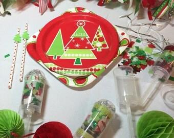 Christmas confetti - Christmas Party Decor - Holiday Confetti -  Red and Green Confetti - Party Confetti - Christmas Party - Confetti