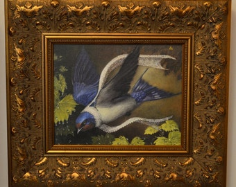 "Barn Swallow - Framed Canvas Print - ""Zorion"""