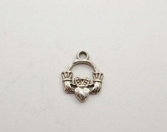 Tiny  Sterling Irish Claddah Charm