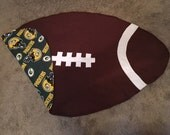 Green Bay Packers Football Baby Blanket Baby Boy Sports Team Football Shape
