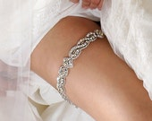 now AVAILABLE IMMEDIATELY*** Bridal Garter SET - Wedding Keepsake and Toss Garters with Crystals