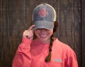 Trucker Hat, Monogrammed Hat, Country Girl Hat, Preppy Hat, Trucker Cap