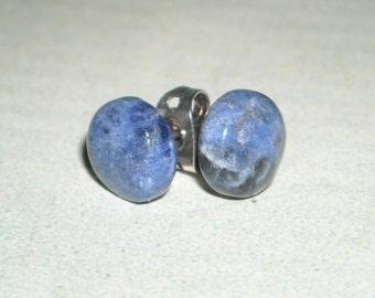 Sodalite Post Earrings - Stormy - Small Blue Earrings Fashion Earrings Graduation Third Eye Chakra Calming Stone Healing Petite Earrings