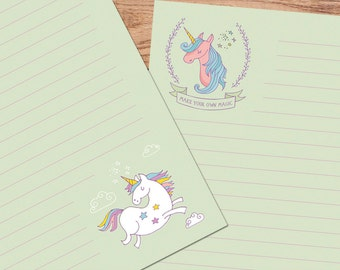 Unicorn Magic - A5 Stationery - 12, 24 or 48 sheets