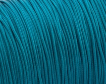 Waxed polyester cord - teal cord 1.2mm - 10m - WPC20