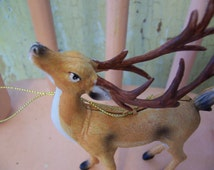deer with large antlers ornament