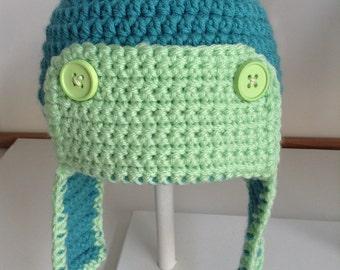 Boys crochet aviator hat