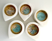 Custom Marble Map Ring Jewelry Storage Dish