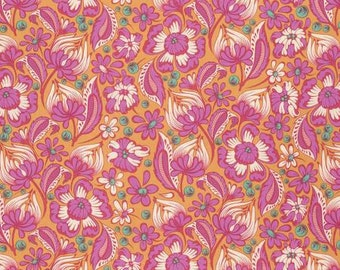 Free Spirit By Tula Pink Chipper Sorbet Wild Vines Fabric - 1 yard