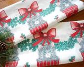 Unused Vintage Christmas Pillowcases Kittens In Stockings Vintage Pillowcases Holiday Pillowcases