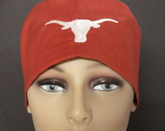 Texas longhorns embroidered hybrid scrub cap