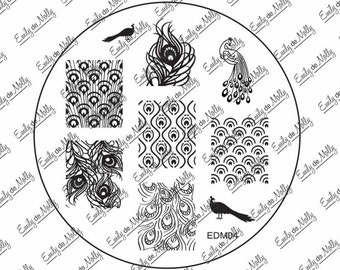 Nail stamping plate - EDM04