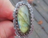 Native American Inspired Sterling Silver Ring - Size 11-3/4