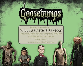 Goosebumps Invitation