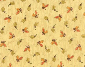 Welcome Fall! - Moda Quilting Fabric by Deb Strain - Cream Leaves