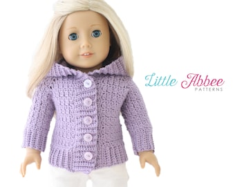 "Download Now - CROCHET PATTERN 18"" Doll Snowball Sweater"
