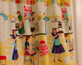 SALE Great Value RETRO Vintage Home Ec  Valance   Window Curtain
