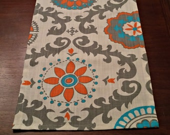 SALE TABLE RUNNER Suzani Manderin Table Top Runner One Left Ready  to Ship