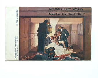 Death of Nelson Postcard, Madame Tussaud, Raphael Tuck