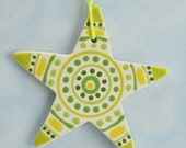 Star Ornament Two-Sided Decoration Stripes Dots Curves
