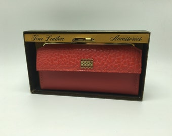Vintage Winston Red Leather Wallet NOS