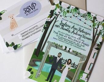 Invite Card & RSVP : Custom Illustrated Wedding Invitations, Design Fee