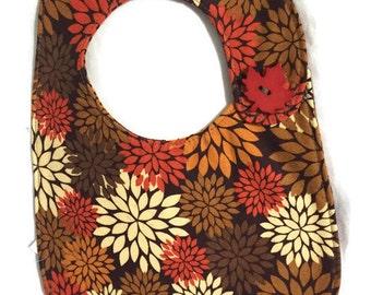 Fall colors bib brown gold orange