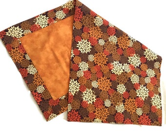 Colors of Fall table runner harvest gold brown