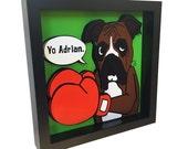 Boxer Dog Art Rocky Balboa Boxing Poster Boxer Dog Gifts Pet Artwork 3D Art Pop Art Dog Wall Art Pet Art