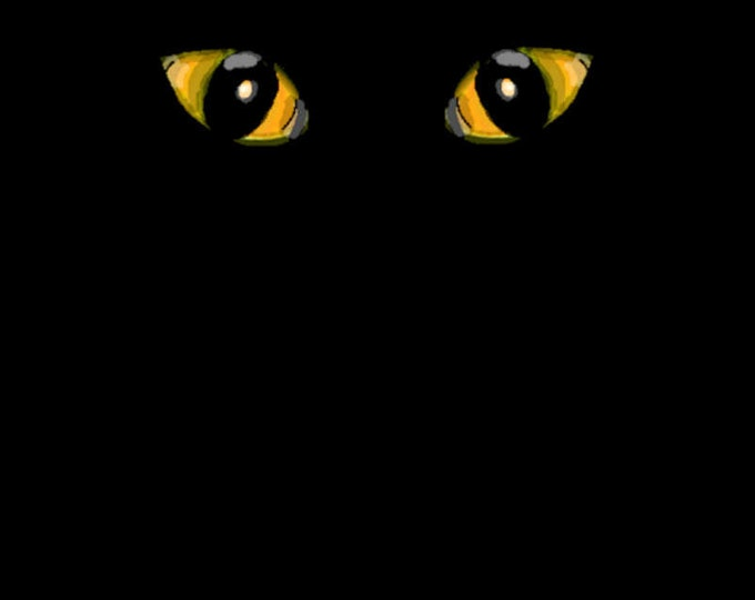 Halloween Cat's Eyes Poster Print