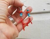 Painted Horse Earrings
