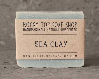 Sea Clay Soap - All Natural Soap, Handmade Soap, Unscented Soap, Detox Soap, Vegan Soap