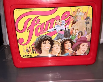 vintage 1983 MGM entertainment CO. Fame dance theatre tv show plastic lunch box RAD