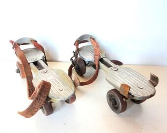 1950's Metal Roller Skates Kingston USA Metal Toy
