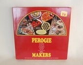 Vintage Perogie Maker Set of 2 for Delicious Hors D'Oeuvres, Main Dishes, Desserts and More / Recipe Book Included circa 1984