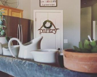 Metal Pantry Sign Kitchen Home Decor Farm Style | Rusty | Black | Galvanized