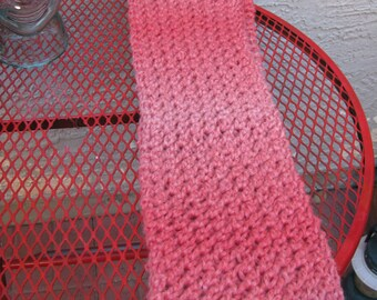 Coral Infinity scarf knitted