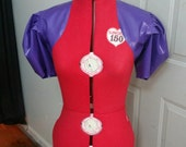 SAMPLE SALE 50% off Latex Kimberly Bolero - Violet Size XS/S/M