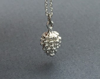 Dainty Pine Cone Necklace- available in silver and gold.