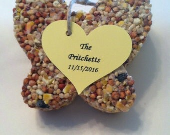 Wedding or bridal shower butterfly birdseed favors