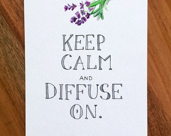 Keep Calm Essential Oils watercolor