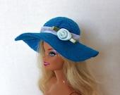 Handmade Hat for Barbie Dolls Blue