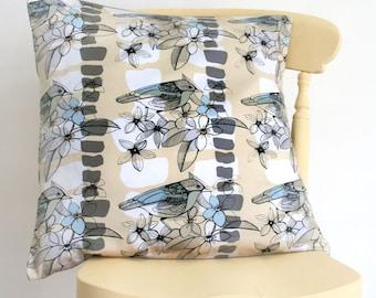 Bird and Flower Cushion