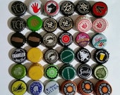 56 Mixed Beer Bottle Caps, Undented, Mostly Craft Beers