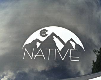 Colorado Native Colorado Sunset Mountain decal